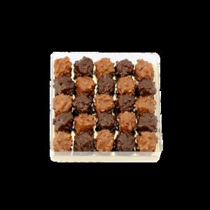 Mini rochers Pralinés - Noir et Lait