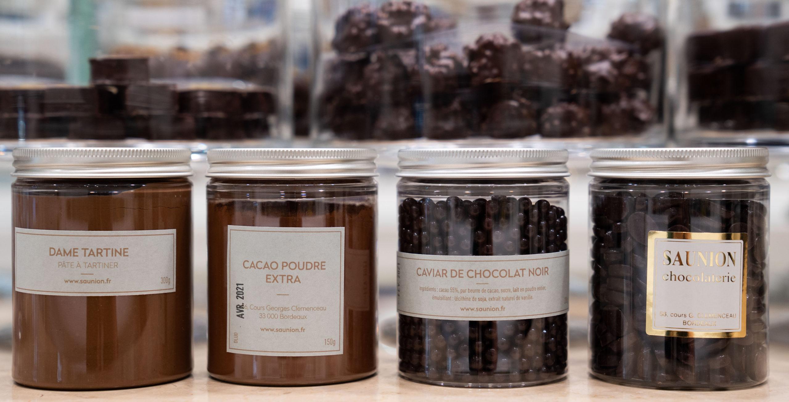 dame tartine - cacao en poudre - caviar de chocolat - grains de café