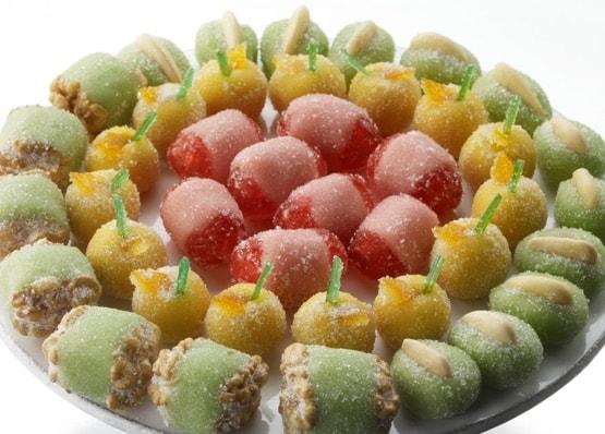 visuel d'un plateau de fruits en pâte d'amandes