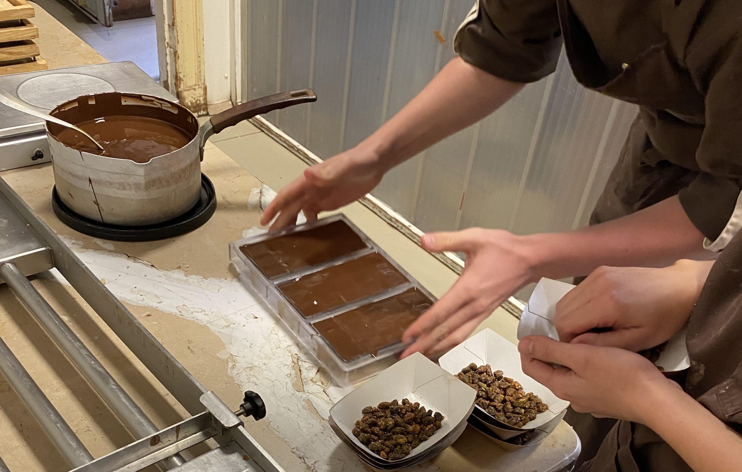 Visuel de la préparation de tablettes ed chocolat