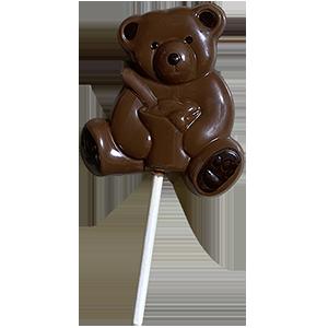 sucette ourson en chocolat