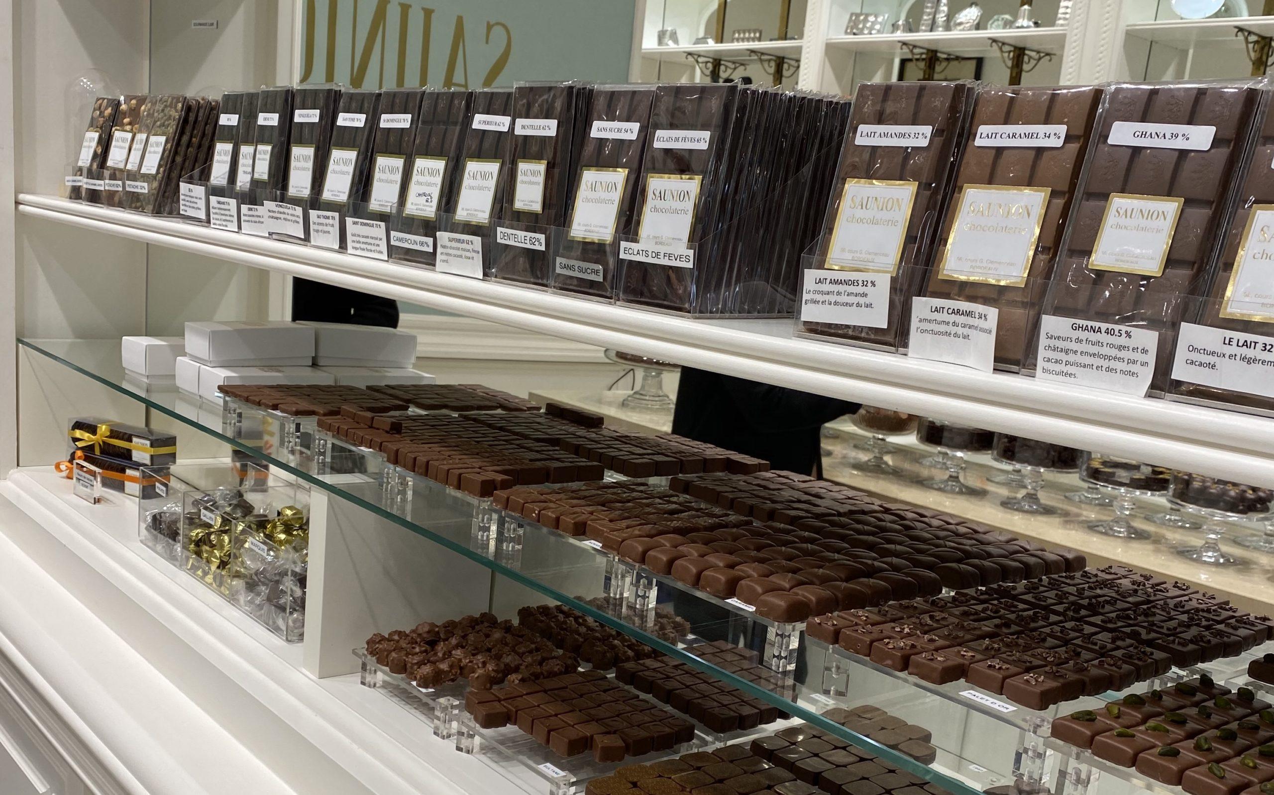 visuel des chocolats en boutique